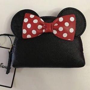 Disney Minnie Mouse Head Coin Purse Mini Wallet